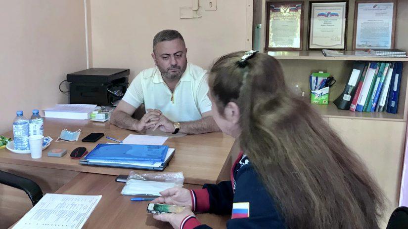 Депутат Сос Мартиросян провёл приём граждан по личным вопросам