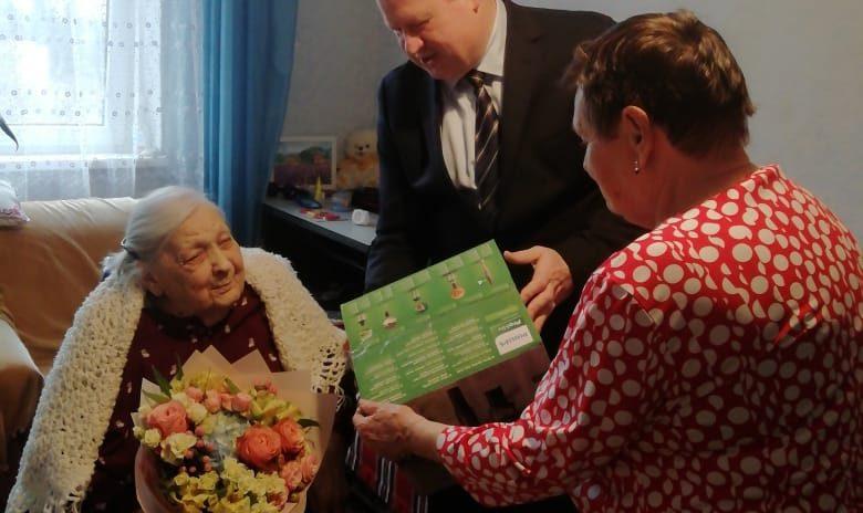 Юрий Немцев поздравил жительницу города Сочи со 100-летним юбилеем