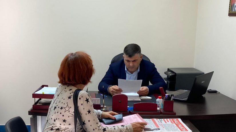 20 октября депутат ГСС Е.З. Кавтарадзе провел очередной приём граждан