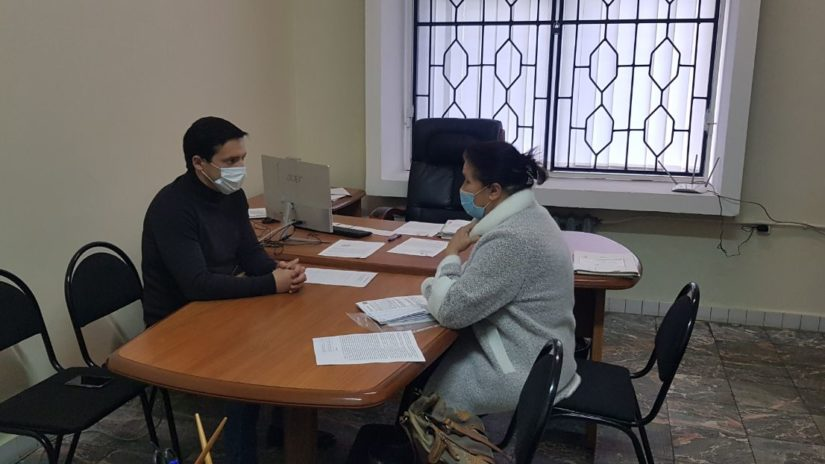 Председатель Совета молодых депутатов при ГСС Андрей Василенко провел плановый приём граждан