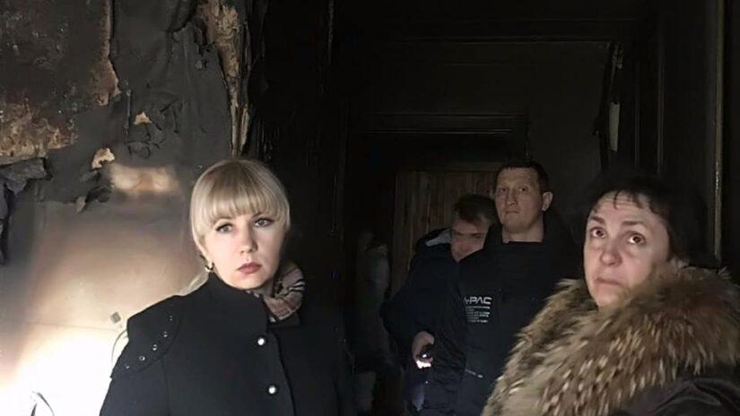 Депутат Инна Мысина организовала волонтерскую помощь пострадавшим от пожара