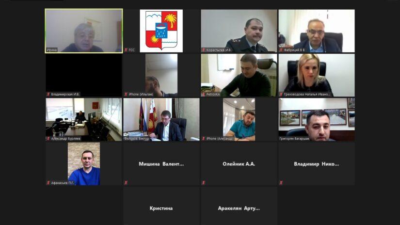 Заседание территориальной депутатской группы Лазаревского района прошло в режиме ВКС