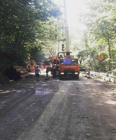 В селе Харциз начались работы по капитальному ремонту автодороги, ведущей в село