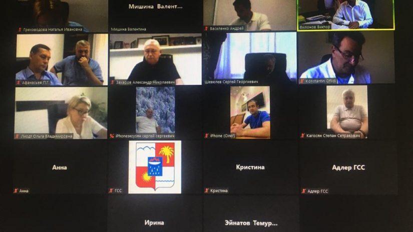 Председатель Городского Собрания Сочи Виктор Филонов провел рабочее совещание с председателями профильных комитетов и территориальных депутатских групп