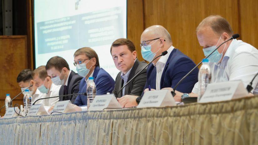 В Органном зале прошло расширенное заседание антитеррористической комиссии и оперативной группы в муниципальном образовании город-курорт Сочи под председательством мэра курорта Алексея Копайгородского